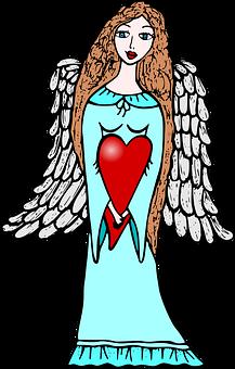 Angel, Love, Wings, Angel Wings, Heart, Woman, Fantasy