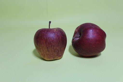 Apple, Red, Fruit, Light, Green, Background, Apples