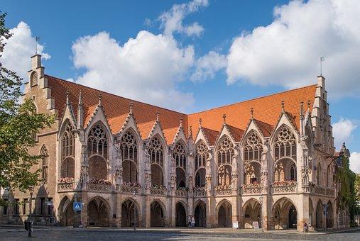 City, Town Hall, Braunschweig, Architecture, Building