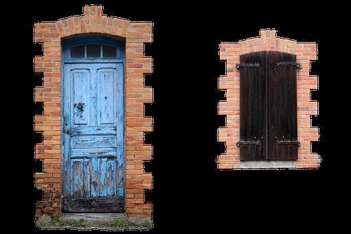 Door, Window, Facade, Old, Entrance