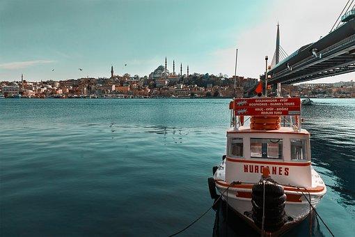 Boat, River, Bridge, Islam, City, Travel, Turkey