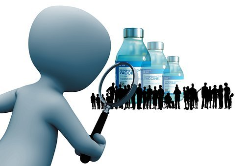 Vaccine, Corona, Magnifying Glass, People, Group