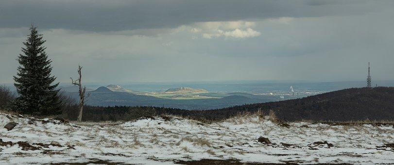 Mountains, Snow, Panorama, View, Horizon, Sky, Clouds