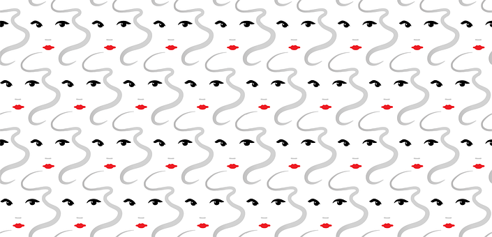 Face, Pattern, Eyes, Look, Hair, Mouth, Lipstick