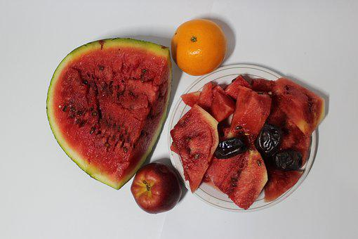 Watermelon, Orange, Fruit, Apple, Date Fruit, Vitamins