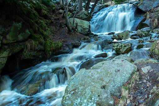Waterfall, River, Rocks, Water, Falls, Cascade, Stream