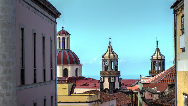 Church, Builldings, Domes, Roofs, Village, Island