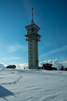 Mountain, Tower, Snow, Winter, Ski Slope, Snowy