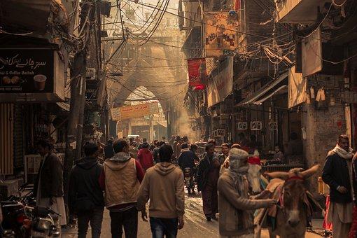 Street, Road, Market, People, Crowd, Old City