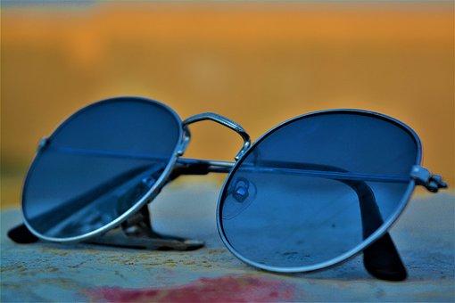Sunglasses, Blue, Lifestyle, Fashion