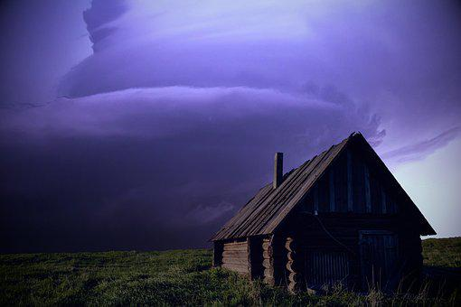 Storm, Sky, Cabin, Clouds, Weather, Thunder
