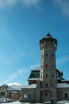 Building, Tower, Snow, Winter, Lookout Tower, Facade