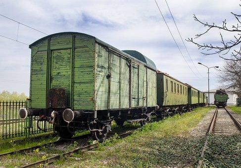Train, Wagon, Railway, Rail Cars, Railroad, Vintage
