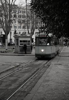 Tram, Tracks, Street, Structure, Computer, Wall, Rome