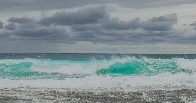 Wave, Sea, Ocean, Surf, Spray, Water, Seascape, Wind