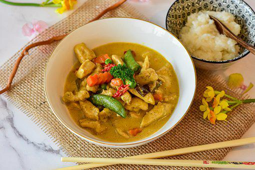 Chicken, Curry, Vegetables, Thai Curry, Chicken Curry