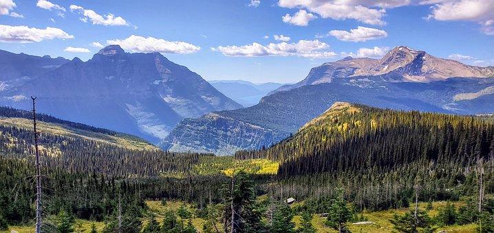 Gnp, Glacier National Park, Mountains, Montana