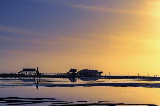 Beach, Ording, Coast, North Sea, Sand Beach, Wadden Sea