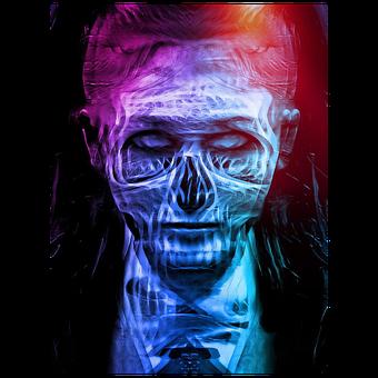 Creepy, Skull, Horror, Dark, Skeleton, Girl