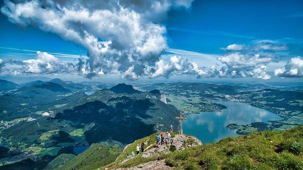 Landscape, Austria, Nature, Mountains, Alpine, Sky