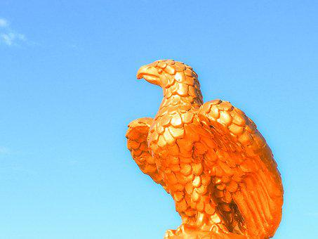 Eagle, Monument, Sky, Sculpture, Statue, Culture