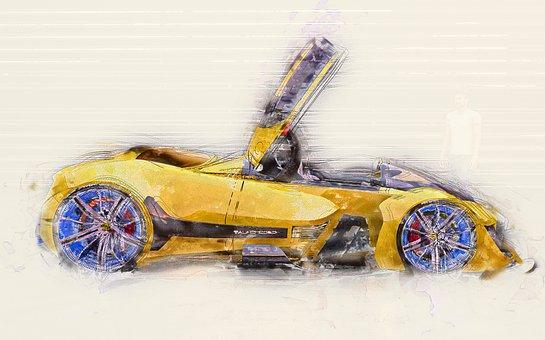 Car, Vehicle, Auto, Speed, Transportation, Fast, Design