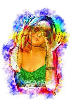 Fashion, Model, Photo Art, Woman, Girl, Sunglasses