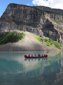 Canoe, Lake, Boat, Water, Nature, Canada, Adventure