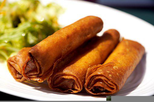 Spring Roll, Food, Chinese Cuisine, Fried Food, Dish