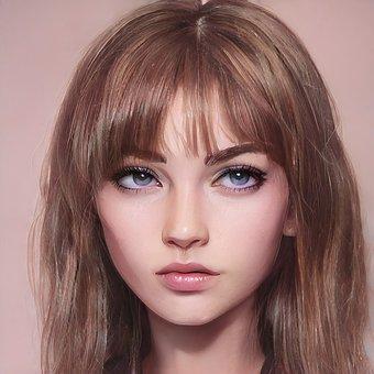 Portrait, Woman, Face, Girl, Female, Makeup, Young