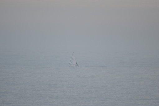 Sailboat, Sea, Foggy, Boat, Sailing Boat, Sailing