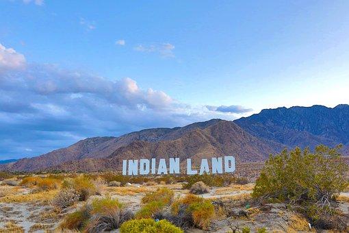 Indian Land, Tribal, Sign, Desert, Indian