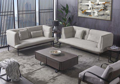 Sofa, Living Room, Interior Design, Minimalist Sofa