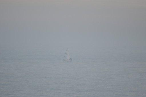 Sailboat, Sea, Foggy, Boat, Sailing Boat, Sailing