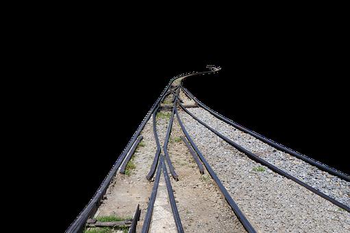 Railway, Railroad, Train, Tracks, Gravel