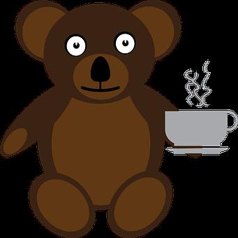 Bear, Coffee, Cup, Mug, Drink, Teddy Bear