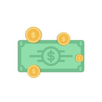 Dollar Bill, Coins, Money, Currency, Finance, Debt