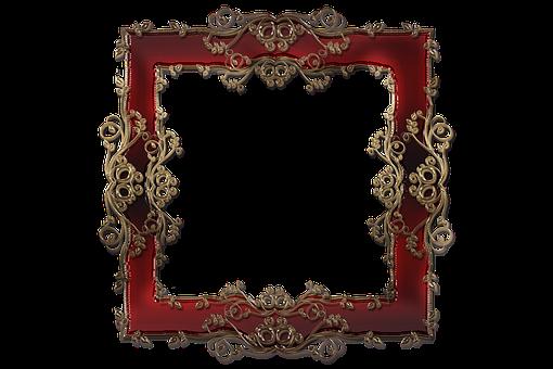Frame, Border, Ruby, Decorative, Style, Design