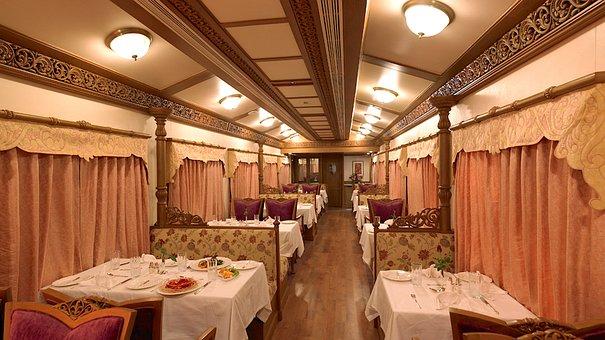 Golden Chariot, Indian Rail, Luxury Train, Restaurant