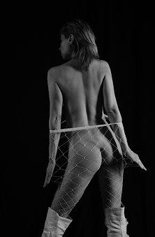 Woman, Back, Body, Model, Portrait, Naked, Nude