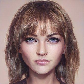 Beauty, Woman, Portrait, Face, Makeup, Female, Person