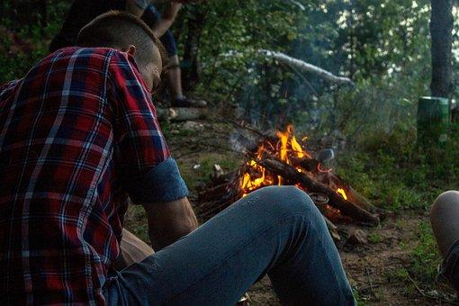 Bonfire, Spark, Food, Camping, Journey, Fire, Coals