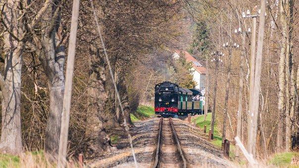 Train, Railroad, Track, Steam Locomotive