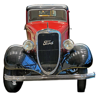 Vintage Ford, Old Car, 3d Render, Classic, Retro