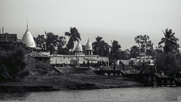 Black And White, Landscape, Street, West Bengal, India