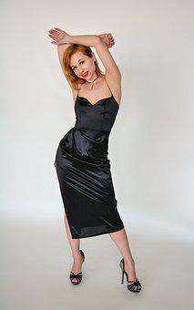 Dress, Figure, Studio, White Background, Evening Dress