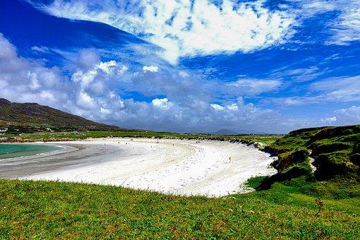 Beach, Connemara, Ireland, Sand Beach