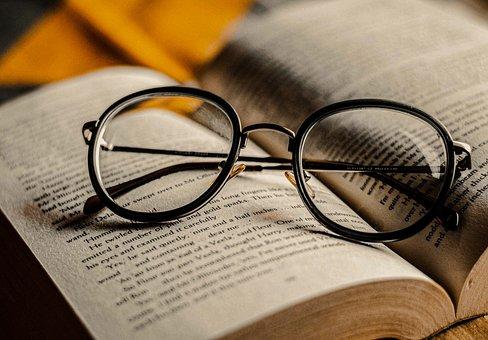 Glasses, Book, Reading Glasses, Eyeglasses, Spectacles