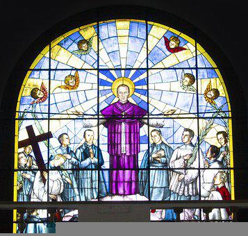 Stained Glass Window, Saint, Church, Stained Glass