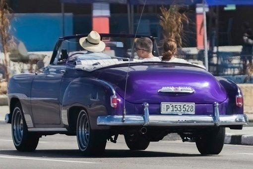 Almendron, Car, Cuba, Travel, Taxi, Classic Car